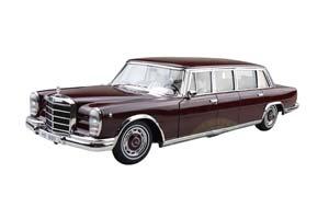 MERCEDES W100 600 PULLMAN 1966 DARK RED