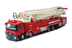MERCEDES SANY 62M LONG-SPAN LIFT JET FIRE TRUCK ASCENDING PLATFORM 2019 WHITE/RED *BENZ BENC МЕРСЕДЕС БЕНС МЕРСИДЕС МЕРСЕДЕЗ БЕНЦ