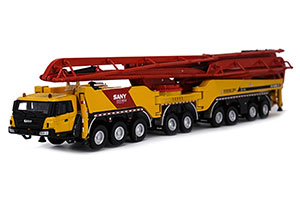 SANY 86M CEMENT PUMP TRUCK MODEL OF CONSTRUCTION MACHINERY 2019 YELLOW/RED *САНИ
