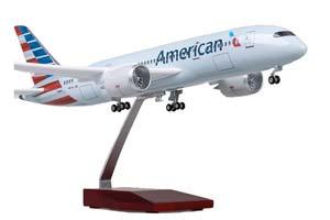 BOEING 787-9 DREAMLINER | БОИНГ 787-9 АВИАКОМПАНИИ AMERICAN AIRLINES С ОСВЕЩЕНИЕМ САЛОНА НА ШАССИ ДЛИНА 41 СМ *БОИНГ