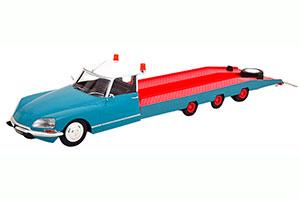 CITROEN DS TISSIER CAR TRANSPORTER 1970 BLUE RED MODELCAR CITROEN DS 19 NOT INCLUDED *СИТРОЕН СИТРОЭН