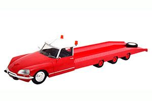 CITROEN DS TISSIER CAR TRANSPORTER 1970 RED WHITE MODELCAR CITROEN DS 19 NOT INCLUDED *СИТРОЕН СИТРОЭН