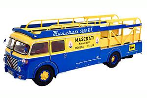 FIAT 642 RN2 BARTOLETTI MASERATI RACE TRANSPORTER 1957 BLUE YELLOW MASERATI 250F NOT INCLUDED *ФИАТ