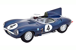JAGUAR D-TYPE SHORT NOSE WINNER 24H LE MANS SANDERSON/FLOCKHART 1956 BLUE *ЯГУАР ДЖАГУАР