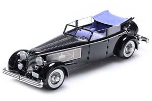 DUESENBERG SJ TOWN CAR CHASSIS 2405 BY ROLLSON FOR MR. RUDOLF BAUER 1937 FULLY OPEN ЧЕРНЫЙ