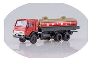 KAMAZ 53212 WITH A TANK MILK SANDLESS DRAIN (USSR RUSSIAN TRUCK)   КАМАЗ 53212 С ЦИСТЕРНОЙ МОЛОКО ПЕСОЧНАЯ БОЧКА *КАМАЗ КАМСКИЙ АВТОЗАВОД