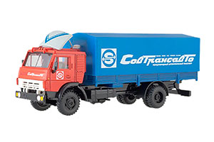 KAMAZ 5325 SOVTRANSAVTO CABIN RED/TENT BLUE | КАМАЗ 5325 СОВТРАНСАВТО КАБИНА КРАСНЫЙ/ТЕНТ СИНИЙ