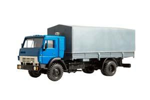 KAMAZ 5325 WITH TENT (USSR RUSSIAN TRUCK)   КАМАЗ 5325 С ТЕНТОМ (КАБИНА СИНЯЯ ТЕНТ СЕРЫЙ) ЭЛЕКОН
