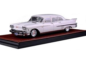 CADILLAC FLEETWOOD 75 LIMOUSINE 1958 WHITE