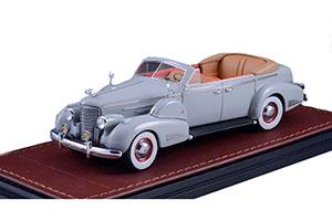 CADILLAC V16 SERIES 90 FLEETWOOD SEDAN CONVERTIBLE (OPEN) 1938 GREY *КАДИЛАК КАДИЛЛАК КЭДИ