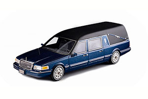 LINCOLN TOWNCAR S & S HEARSE 1997 METALLIC BLUE *ЛИНКОЛЬН
