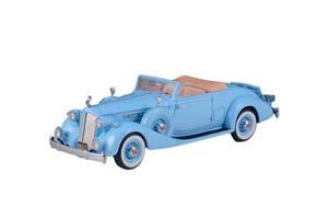 PACKARD TWELVE MODEL 1407 BOHMAN & SCHWARTZ CONVERTIBLE COUPE 1936 BLUE