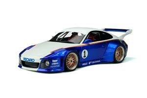 PORSCHE 911 (997) OLD NEW 935 BODY KIT BLUEMETALLIC WHITE WITH DECALS LIMITED 999 PCS