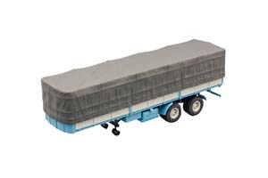 MAZ 5205A SEMI-TRAILER WITH TENT BLUE AND GRAY (USSR RUSSIA) | МАЗ 5205А ПОЛУПРИЦЕП С ТЕНТОМ ГОЛУБОЙ С СЕРЫМ *МАЗ
