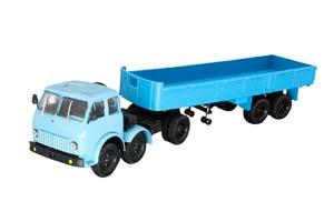MAZ-520 6X2 + MAZ-5205 BLUE/BLUE (USSR RUSSIA)   МАЗ-520 6X2 + МАЗ-5205 ГОЛУБОЙ/СИНИЙ