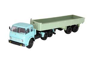 MAZ-515 6X4 + MAZ-5205 BLUE/GREEN (USSR RUSSIA)   МАЗ-515 6X4 + МАЗ-5205 ГОЛУБОЙ/ЗЕЛЕНЫЙ