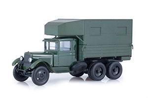 ZIS-6 MOBILE REPAIR WORKSHOP PARM BASED ON ZIS-6 DARK GREEN (USSR RUSSIA)   ЗИС-6 ПЕРЕДВИЖНАЯ РЕМОНТНАЯ МАСТЕРСКАЯ ПАРМ НА БАЗЕ ЗИС-6 ТЕМНО-ЗЕЛЕНЫЙ