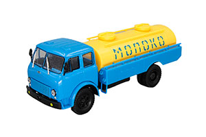 MAZ ASRT-56 MILK BLUE/YELLOW (USSR RUSSIA)   МАЗ АСРТ-56 МОЛОКО ГОЛУБОЙ/ЖЕЛТЫЙ