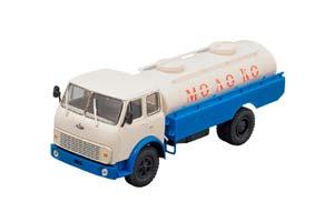 MAZ-5334 ATsPT-56 MILK WHITE/BLUE (USSR RUSSIA)   МАЗ-5334 АЦПТ-56 МОЛОКО БЕЛЫЙ/СИНИЙ