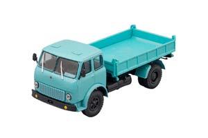 MAZ-511B DUMP TRUCK WITH SIDE UNLOADING BLUE (USSR RUSSIA)   МАЗ-511Б САМОСВАЛ С БОКОВОЙ РАЗГРУЗКОЙ ГОЛУБОЙ