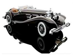 Mercedes W29 500K Special Roadster 1934 Brown/Maroon