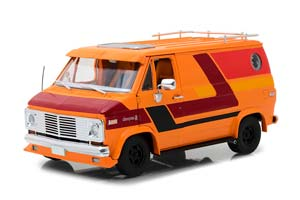 CHEVROLET G-SERIES VAN 1976 ORANGE WITH CUSTOM GRAPHICS *ШЕВРОЛЕ ШЕВИ ШЕВРОЛЕТХ