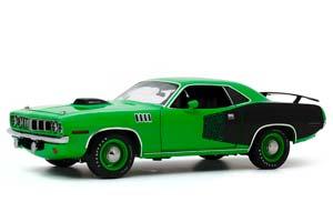 PLYMOUTH CUDA WITH CUSTOM CRATE 392 HEMI ENGINE 1971 GREEN | ПЛИМУТ БРАКУДА ИЗ ТЕЛЕШОУ МАШИНЫ С ТОГО СВЕТА