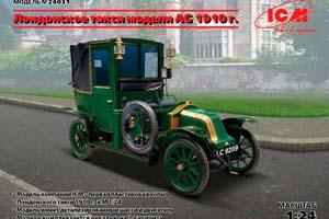 MODEL KIT LONDON TAXI MODEL AG 1910G | ЛОНДОНСКОЕ ТАКСИ МОДЕЛИ AG 1910Г *СБОРНАЯ МОДЕЛЬ