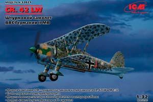 MODEL KIT GERMAN ATTRACTOR FIAT CR.42 LW | ГЕРМАНСКИЙ ШТУРМОВИК FIAT CR.42 LW *СБОРНАЯ МОДЕЛЬ