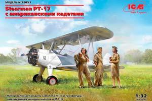 MODEL KIT STEARMAN PT-17 WITH AMERICAN CADETS | STEARMAN PT-17 С АМЕРИКАНСКИМИ КАДЕТАМИ *СБОРНАЯ МОДЕЛЬ