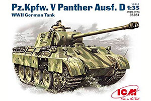 MODEL KIT PANTHER PZ.KPFW.V-GERMAN TANK II MB | ПАНТЕРА PZ.KPFW.V-НЕМЕЦКИЙ ТАНК II MB *СБОРНАЯ МОДЕЛЬ
