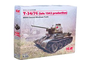 MODEL KIT SOVIET MEDIUM TANK II MV T-34/76 (PRODUCED IN LATE 1943) | СОВЕТСКИЙ СРЕДНИЙ ТАНК II МВ Т-34/76 (ПРОИЗВОДСТВА КОНЦА 1943 Г.) *СБОРНАЯ МОДЕЛЬ
