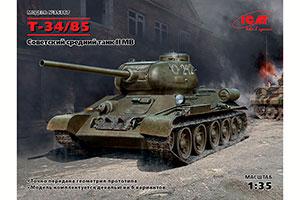 MODEL KIT SOVIET MEDIUM TANK T-34/85   СОВЕТСКИЙ СРЕДНИЙ ТАНК Т-34/85 *СБОРНАЯ МОДЕЛЬ
