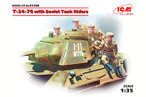 MODEL KIT T-34-76 WITH SOVIET TANK LANDING | T-34-76 С СОВЕТСКИМ ТАНКОВЫМ ДЕСАНТОМ *СБОРНАЯ МОДЕЛЬ