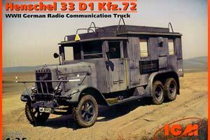 MODEL KIT HENSCHEL 33 D1 KFZ.72 GERMAN VEHICLE OF RADIO COMMUNICATION II MB | HENSCHEL 33 D1 KFZ.72 ГЕРМАНСКИЙ АВТОМОБИЛЬ РАДИОСВЯЗИ ІІ МВ