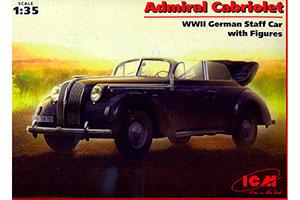 MODEL KIT ADMIRAL CONVERTIBLE GERMAN PASSENGER CAR II MB   ADMIRAL КАБРИОЛЕТ ГЕРМАНСКИЙ ЛЕГКОВОЙ АВТОМОБИЛЬ II МВ