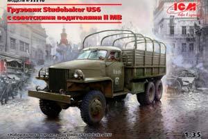 MODEL KIT STUDEBAKER US6 WITH SOVIET DRIVERS II MB   STUDEBAKER US6 С СОВЕТСКИМИ ВОДИТЕЛЯМИ II МВ *СБОРНАЯ МОДЕЛЬ