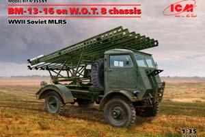 MODEL KIT BM-13-16 ON W.O.T. 8 CHASSIS WWII SOVIET MLRS   BM-13-16 ON W.O.T. 8 CHASSIS WWII SOVIET MLRS *СБОРНАЯ МОДЕЛЬ