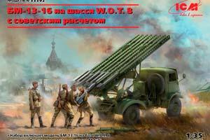 MODEL KIT BM-13-16 ON W.O.T. 8 CHASSIS WITH SOVIET CREW   BM-13-16 ON W.O.T. 8 CHASSIS WITH SOVIET CREW *СБОРНАЯ МОДЕЛЬ