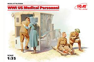 MODEL KIT WWI US MEDICAL PERSONNEL | WWI US MEDICAL PERSONNEL *СБОРНАЯ МОДЕЛЬ