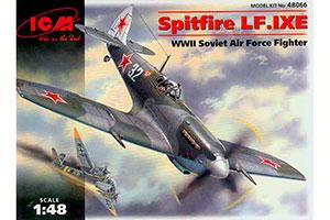 MODEL KIT SPITFIRE LF. IX Fighter of the USSR Air Force of World War II   SPITFIRE LF. IX ИСТРЕБИТЕЛЬ ВВС СССР 2-МИРОВОЙ ВОЙНЫ *СБОРНАЯ МОДЕЛЬ