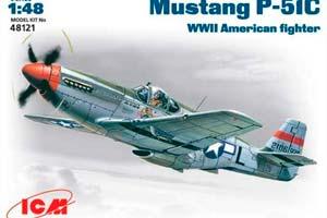 MODEL KIT AIRCRAFT P-51C USAF | САМОЛЕТ P-51C ВВС США