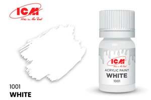 MODEL KIT CREATIVE PAINT 12 ML WHITE | КРАСКА ДЛЯ ТВОРЧЕСТВА 12 МЛ ЦВЕТ БЕЛЫЙ (WHITE) *СБОРНАЯ МОДЕЛЬ