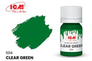 MODEL KIT CREATIVE PAINT 12 ML CLEAR GREEN | КРАСКА ДЛЯ ТВОРЧЕСТВА 12 МЛ ЦВЕТ ЯСНЫЙ ЗЕЛЕНЫЙ(CLEAR GREEN) *СБОРНАЯ МОДЕЛЬ