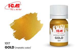 MODEL KIT PAINT FOR CREATIVITY 12 ML COLOR GOLD (GOLD) | КРАСКА ДЛЯ ТВОРЧЕСТВА 12 МЛ ЦВЕТ ЗОЛОТО(GOLD) *СБОРНАЯ МОДЕЛЬ