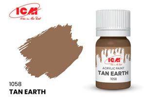 MODEL KIT CREATIVE PAINT YELLOW-BROWN CLAY (TAN EARTH) | КРАСКА ДЛЯ ТВОРЧЕСТВА ЖЁЛТО-КОРИЧНЕВАЯ ГЛИНА (TAN EARTH)
