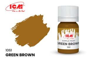 MODEL KIT CREATIVE PAINT GREEN BROWN | КРАСКА ДЛЯ ТВОРЧЕСТВА ЗЕЛЕНО-КОРИЧНЕВЫЙ (GREEN BROWN)