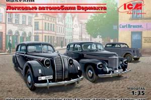 MODEL KIT WEHRMACHT PERSONNEL CARS (KADETT K38 KAPITAN AND ADMIRAL)   WEHRMACHT PERSONNEL CARS (KADETT K38 KAPITAN AND ADMIRAL) *СБОРНАЯ МОДЕЛЬ