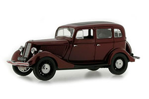 GAZ M1 USSR CAR 1936 DARK RED