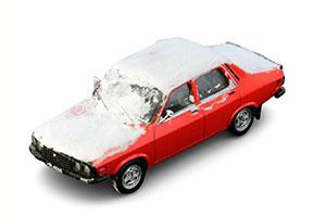 DACIA 1310 SEDAN 1984 WITH SNOW FLOW